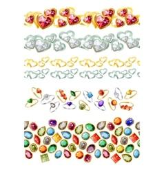 Jewelry gems vector