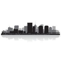 Richmond usa city skyline silhouette vector