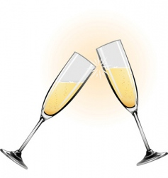 Champagne glasses vector
