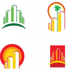 Real estate symbols vector