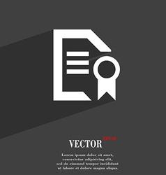 Award file document icon symbol flat modern web vector