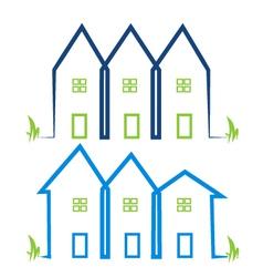 Real estate houses logos vector