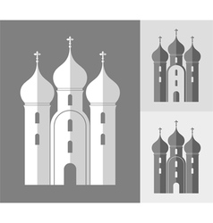 Orthodox church russia vector