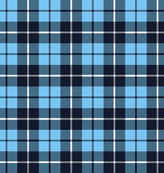 Blue tartan fabric texture pattern seamless vector