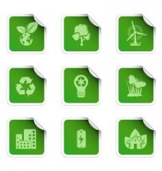 Eco stickers vector