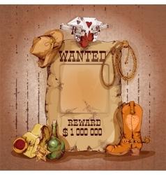 Wild west poster vector