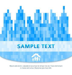 City silhouette family property blurred background vector