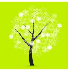Snowflakes tree vector