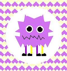 Little cute violet monster vector