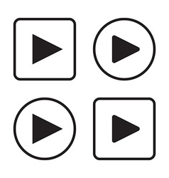 Set of play button icons vector
