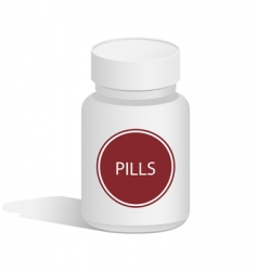 Medical jar for pills vector