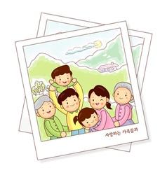 Memories of family photos vector