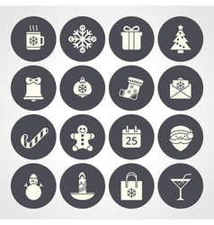 Flat christmas icons for web and applications vector