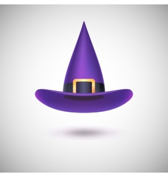 Purple witch hat for halloween vector