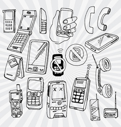 Mobile phones and other devices vector