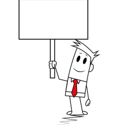 Square guy - signboard vector
