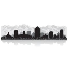 Salt lake city usa skyline silhouette vector