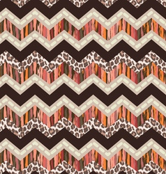 Brown zigzag seamless vector