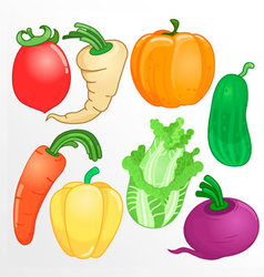 Vegetables whole cartoon vector