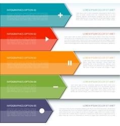 Modern arrow infographics elements vector