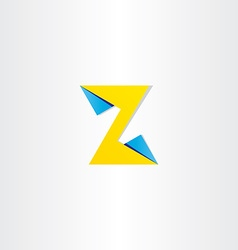 Letter z abstract logotype template vector