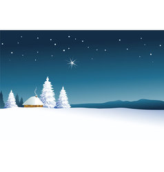 Winter rural landscape vector