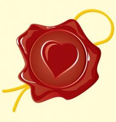 Wafer heart vector