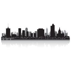 Tulsa usa city skyline silhouette vector