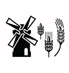 Windmill icons vector
