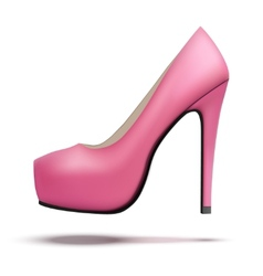 Pink vintage high heels pump shoes vector