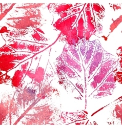 Seamless pattern with imprints of the leaves vector