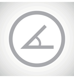 Grey angle sign icon vector
