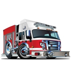 Cartoon fire truck vector