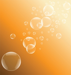 Orange bubble background vector