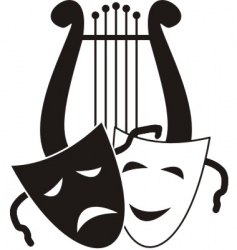 Theater symbols vector