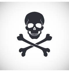 Skull and crossbones sign vector