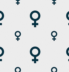 Symbols gender female woman sex icon sign seamless vector