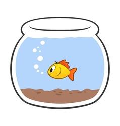 Cartoon fish bowl vector
