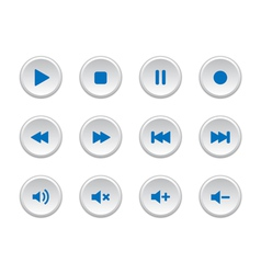Media player buttons vector