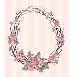 Roses frame round vector
