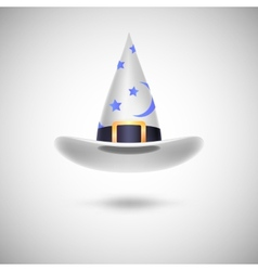 White witch hat for halloween vector