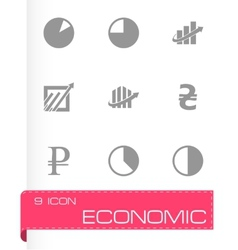 Economic icons set vector