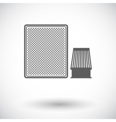 Automotive filter icon vector