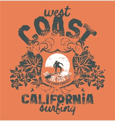 California surfing company vector