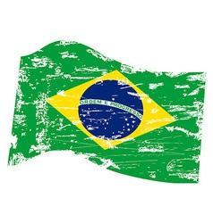 Grungy brazil flag vector