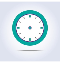Abstract chronometer icon green color vector