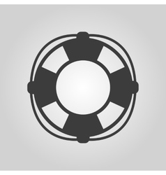 The lifebuoy icon lifebelt symbol flat vector