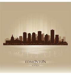 Edmonton alberta skyline city silhouette vector