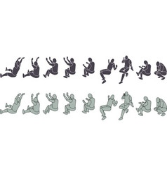 Silhouette exercising vector