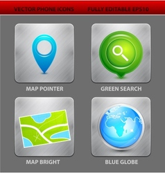 Map app icons vector